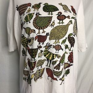 Vintage Shirts - Vintage 90s Zooloo Jungle Birds party Mens Small